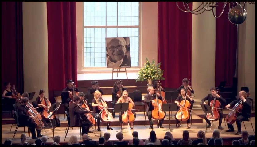 Alexander Baillie and Birmingham Cello Students